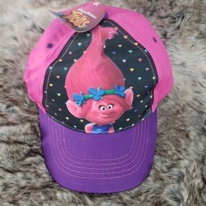 Dreamworks Trolls Pink and Purple Ball Cap